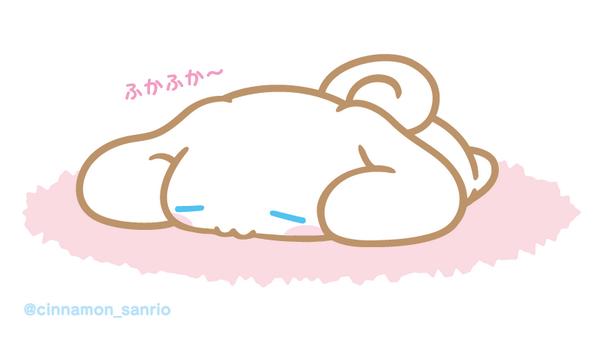 寝ているシナモン
