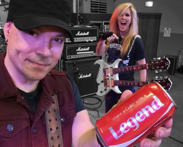 "My can says ""Share a Coke with a LEGEND"". Hmmmm.....Any legends nearby?  #LitaFord @litaford http://t.co/fpyImsAj2t"