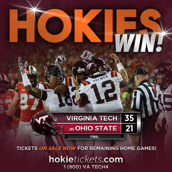 #HOKIES WIN 35-21 http://t.co/8q2WSLajMd