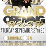 27th September Re - Grand Opening of @ClubHush 421 E Sugar Creek Road #Charlotte #NC #HushGrandOpening #megaclub http://t.co/y6gIPceG75