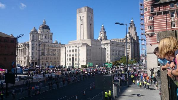 The scene is set. @TourofBritain @itsliverpool @CultureLPool @lpoolwaterfront #itsliverpool #tob2014 @BritishCycling http://t.co/9o6BHPAVgd