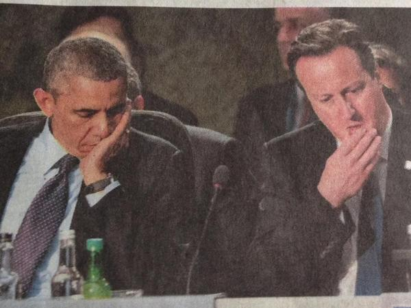 Obama at NATO, dreaming up his #ISIS strategy.... #worst #admin #ever http://t.co/PKBroA9Iat