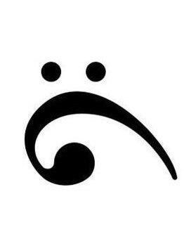 Самый грустный в мире смайлик получается из перевёрнутого басового ключа. http://t.co/i2nonR7fCR