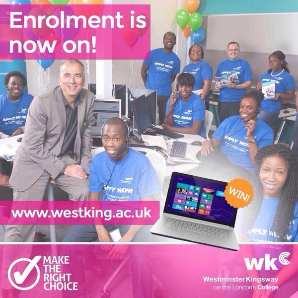 Enrolment is still on @Westking! Need a laptop for #newterm? RT & Follow & you could #win one http://t.co/BaHzJN5Tyg http://t.co/0wKDPL3AeO