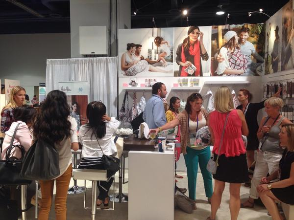 Booth fantastic! @bebeaulait -- #abckids14 Great products - great people! #showfavorite #nursing #breastfeeding http://t.co/GSHt6j6uhQ