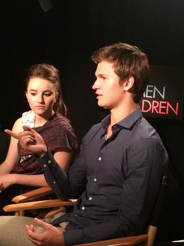 """NO NUDIES!"" Ansel Elgort shouts when I asked him what's on his phone. #TIFF14 http://t.co/MO6ADuyMVB"