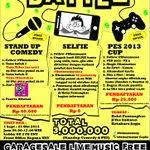 BATTLE #jogja 24-26 Okt14 | #standup battle 40K | #PES Cup 25K | Selfie battle 0K | Balai Pamungkas YK http://t.co/KcNpC8snPz @infojogja