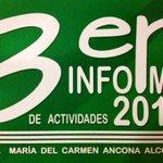 RT @DSE_UJAT: Felicidades M.A. María del Carmen Ancona Alcocer, Directora de #DACEA por su 3er. Informe de Actividades @UJAT http://t.co/u9K59SSjuv