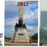 Before & after: Controversial Torre de Manila construction near Rizal monument. (Photo via @Team_PIA) http://t.co/0u4tzpvyRt
