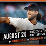 RECAP: Bumgarner flirts with perfection, @BusterPosey blasts 2 home runs in #SFGiants' win. http://t.co/TjOi6oeKVQ http://t.co/9E80917yKp