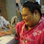 <力士健康診断~血圧編~>寝顔ツイートが話題の千代丸。「あの写真はお母さんから教えてもらって知りました」。https://t.co/U9vrHm6qaT #sumo http://t.co/Yp7pN6qt0u