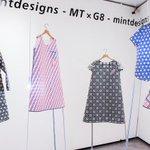 """【今日から】ミントデザインズがマスキングテープで制作した""""紙の服""""展示公開。「mt」が横尾忠則などコラボテープ発売 http://t.co/adAQfAJxp9 http://t.co/op81AJAsAs"""