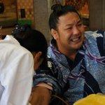 <力士健康診断~採血編~>苦悶の表情、旭大星。(写真は3枚)#sumo http://t.co/8FzhzBDNAw