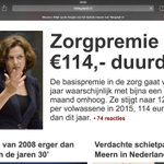 RT @geertwilderspvv: Zorgpremies omhoog? Die moeten en kunnen omlaag! Zorgverzekeraars maken immers miljardenwinst! http://t.co/v0EhGBSxlx