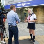 """""""@fashionsnap: """"セーラー服おじさん""""が渋谷ヒカリエで女子高生とディスカッション http://t.co/2twVeReM15 http://t.co/KFPVQMgd7B"""" え!CNN?!笑( ゚д゚)"""