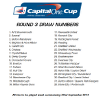 RT @SouthamptonFC: DRAW: #SaintsFC have been allocated ball number 24 for tonight's 32-team #CapitalOneCup Round 3 draw. Full list – http://t.co/vzbFZOcPI7