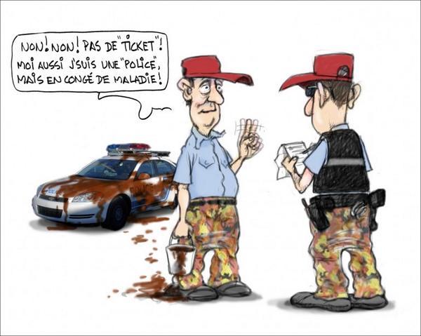 """Non! Non! Pas de """"ticket""""! - Serge Chapleau, La Presse http://t.co/kOUuur7SGw"""
