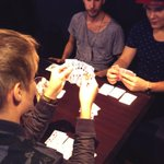 RT @IsacElliot: Playing cards on the way to Tallinn, Estonia. See you at the show 18.00❤ http://t.co/g8XL4uLrPk