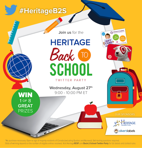 Join the Heritage Back to School Twitter Party 9-10 PM ET - Over $1700 in prizes  http://t.co/a3KHDRBUzS #HeritageB2S http://t.co/tSj8IY5Hk8