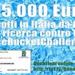 RT @aislaonlus: Grazie di cuore: raggiunti 685.000€ Avanti tutta e Condividete gli amici: http://t.co/eS2LIhJmhm #IceBucketChallenge http://t.co/8MPnGQmYi2