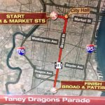Parade for Taney Dragons begins at 2pm. Here is the parade route. #TaneyBaseball http://t.co/HPn9hjzy0O