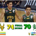 RT @FEUtamz: The FEU MBT are now at 8-2 in the UAAP after winning against DLSU, 74-70. Next game: vs UP on Sat @ Araneta. #GoFEU http://t.co/D2LyS5srKb