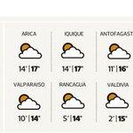 #Santiago: La mínima será de 6° y la máxima llegaría a los 15° http://t.co/Fix3BbZx2l