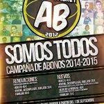 RT @ALBACETEBASKET: Albacete Basket SOMOS TODOS. CAMPAÑA DE ABONOS 14/15. http://t.co/K9DXqahgii http://t.co/qRLcdSHK2g