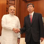 RT @MIB_India: The ADB President Mr. Takehiko Nakao calls on the Prime Minister Shri @narendramodi in New Delhi. http://t.co/yMkA1y1gXV