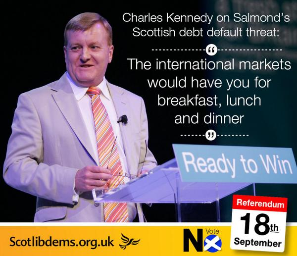 .@charles_kennedy slams #SNP over reckless debt default threat http://t.co/kP2ABy2qbI #indyref #currency http://t.co/KWA0BnA9K9