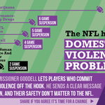 RT @UltraViolet: Josh Gordon suspended for season, while #domesticviolence = 2 game suspension. Hey @NFL get your priorities straight. http://t.co/4L85GFgpa6