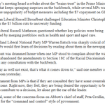 RT @NewsAustralia: Look at this list of complaints from Liberal MPs about PM Abbott. Sounds like hes pulling a Kevin Rudd #auspol http://t.co/I8zEg2NoJY