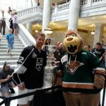 RT @UtahGrizz: First in line to see Trevor Lewis and the Stanley Cup at the Utah State Capitol. http://t.co/HVNbddgfBe