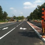 The lines are painted and construction is almost complete on South Ring Road East. #Guelph #UoG http://t.co/KuwMe3X5pm