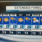 RT @CBCMarilyn: Sunny and warm for the next several days with a chance of shwrs and t-storms Friday a.m. #cbcmb http://t.co/kdFO0lwj8A