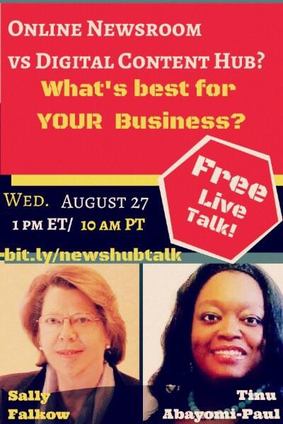 TODAY! @SallyFalkow & I talk about how YOU can #OwnTheNews- come eavesdrop! http://t.co/0UTs1PzGjG http://t.co/bU1CYcMihk