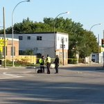 RT @CBCMeaghanK: Identification unit bagging up the evidence of car pedestrian crash. No update on condition of woman. #cbcmb http://t.co/j8RiIxaoNH