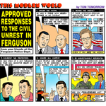 Once again Tom Tomorrow [@tomtomorrow ] is on point w/ the editorial cartoon commentary... #Ferguson http://t.co/3ZN9krwb0J