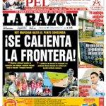 RT @AhNoticiasMega: Minuto a minuto: Diario La Razón dedicó su portada a la marcha por el triángulo terrestre http://t.co/8YmdHtk63f http://t.co/iw6XXwcVC6