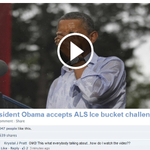 """RT @Pogue: Don't click to """"watch Obama dump ice water on himself;"""" it's a scam. There is no such video (he donated $ instead). http://t.co/KghZd8UkhE"""