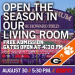 RT @ClemsonTigers: Reminder—you can watch @ClemsonFB/UGA on the big screen at #DeathValley! Watch party info: http://t.co/617n39IZyW http://t.co/aUyDbiMztP