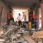 """RT @democracynow: """"The damage is beyond imagination in #Gaza,"""" notes @mogaza. Watch his report: http://t.co/T67kNDQbM6 http://t.co/33WFA0LLBy"""