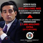 [TRANSPARENCIA] @min_interior gastará en un año US$3 millones extra en sueldos a honorarios http://t.co/z17XqLC6LZ http://t.co/yxgAA415QP