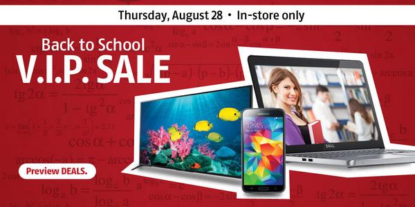 1-day VIP SALE starts August 28! Visit the Future Shop nearest you for DEALS! http://t.co/HDmgOdZuCR #FutureShopping http://t.co/DvcX9SDWbB