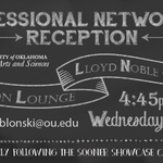 RT @gethiredsooner: @OUArtsSciences Professional Networking Reception immediately following Sooner Showcase! http://t.co/P44VbEjIYA