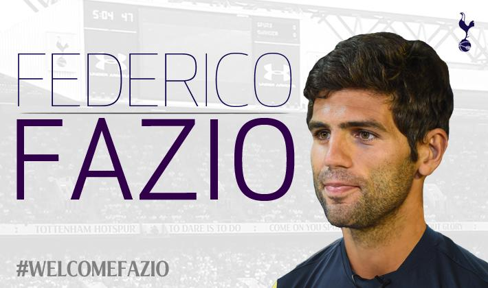 DONE DEAL: Tottenham sign Federico Fazio from Sevilla on a four year deal