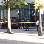 RT @SimsCBS46: Police just picked up knife man was swinging at a plain clothes GSU officer before being shot @CBS46atl http://t.co/wGp3QHg687