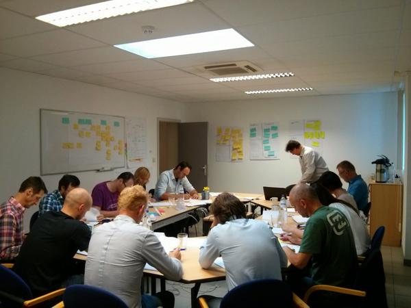 Tim Pijpops (@tpijpops): Hard work and serious play at @pratoservices in Lean Agile training with @PatrickSteyaert. http://t.co/HqAP1MgIMm
