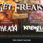 Ready to Get Freaky?! Your Get Freaky 2014 headliners are Steve Aoki 10/31 & Krewella 11/1! http://t.co/1EACUDfPx3 http://t.co/kU7ni8BZ6R