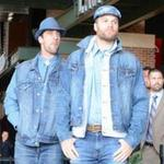 Uhhh? RT @SInow: Aaron Rodgers wore a ton of denim to the @Packers welcome back luncheon http://t.co/iXBSNKVOyb http://t.co/ebP16F1Ic9
